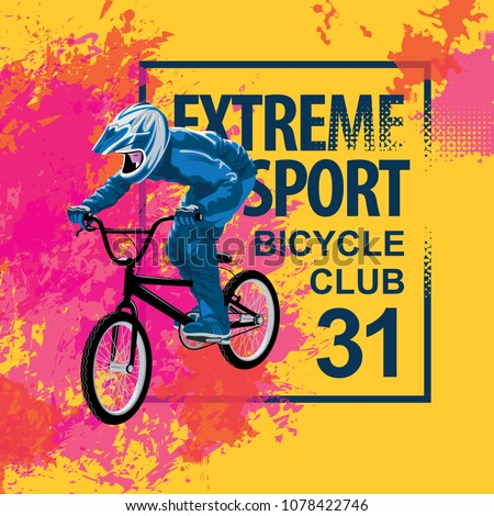 Vector Banner Flyer Words Extreme Sport Stock Vector Royalty Free
