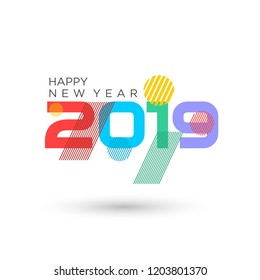 Vector Banner of happy new Year 2019