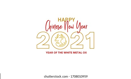 Vector banner, money envelope with a illustration of the Ox Zodiac sign, Symbol of 2021 on the Chinese calendar, isolated. White Metal Ox, Bull, chine lucky. Element for New Year's Chinese design.