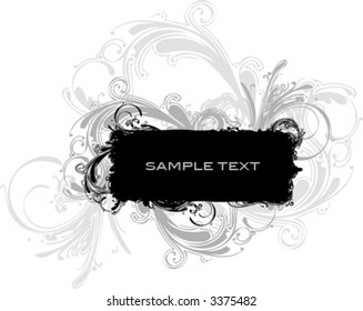 Vector- banner with ornaments. Copy space for text.