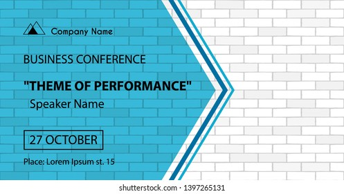 Vector banner template for business conference announcement
