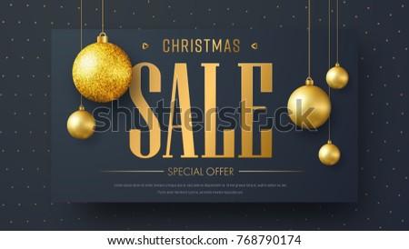 vector banner template christmas sale design stock vector royalty