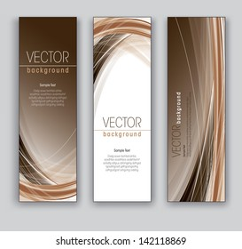 Vector Banners.  Abstract Backgrounds.