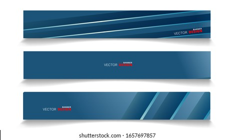 Vector banners arranged for your design, Abstract background illustration.