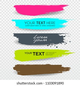 Vector Banners Brush stroke tag label colorful design collections background, illustration