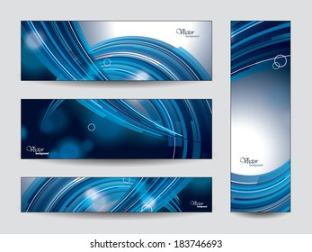Vector Banners. Set of 4.