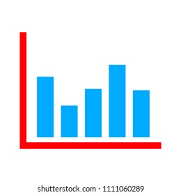 vector Bar chart icon - infographic illustration, bar graph - graphic diagram