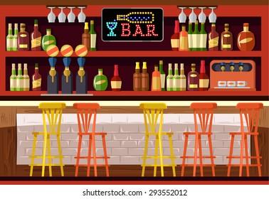 Vector bar flat illustration