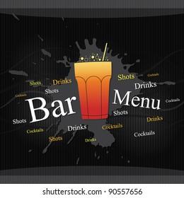Vector. Bar menu design