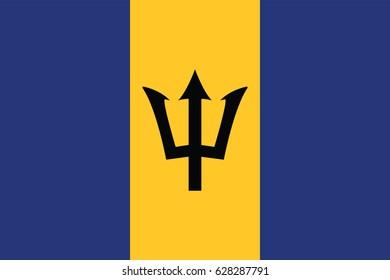 Vector Barbados flag, Barbados flag illustration, Barbados flag picture, Barbados flag image