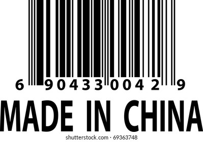 Vector barcode - Made in China