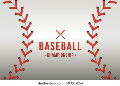 Vector of baseball background.