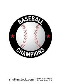 Vector Baseball Championship Badge