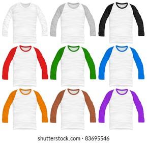 vector baseball shirt design template