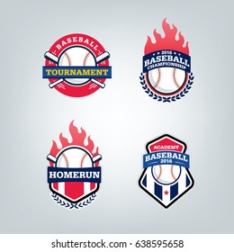 Vector of Baseball sport team logo design