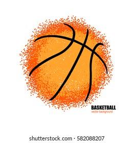 Vector Basketball. Abstract ball. Template for sports design.