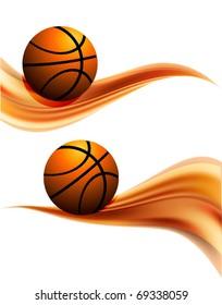 Vector basketball banner