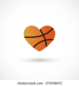 Vector basketball heart
