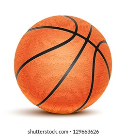 Vector Basketball isolated on a white background. Fitness symbol