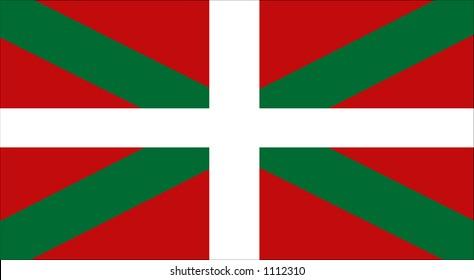 Vector Basque Flag