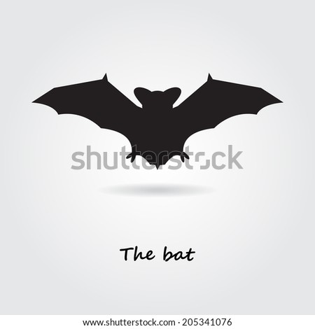 Vector Bat Symbol Stock Vector Royalty Free 205341076 Shutterstock