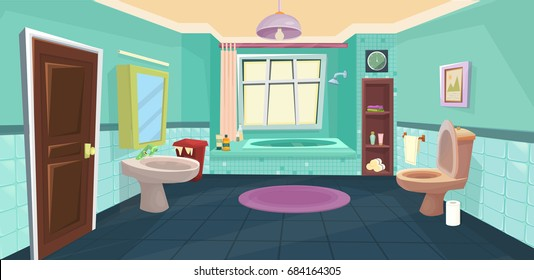 Vector Bathroom / cartoon bathroom