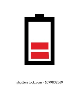 vector Battery low charging - power Battery illustration, electricity symbol - energy sign
