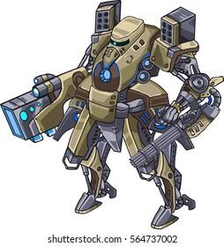 Vector battle robot isometry
