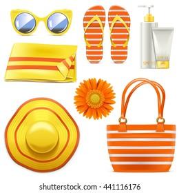 Vector Beach Accessories