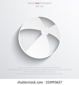 Vector beach ball flat icon. Eps 10.