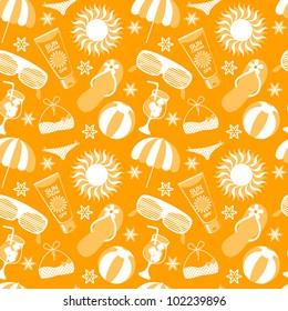 Vector beach pattern for summer