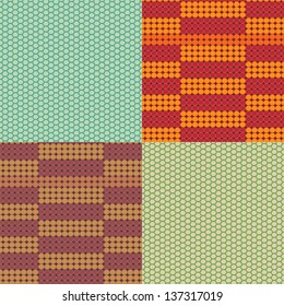 Vector beadwork models seamless pattern set
