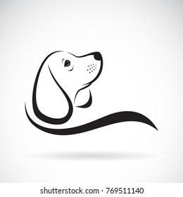 Vector of beagle dog design on white background, Pet. Animals.