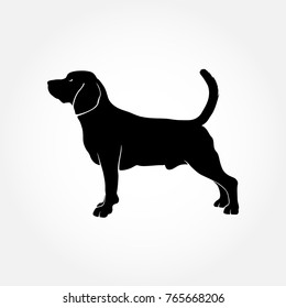 Vector Beagle Dog Silhouette. I realy hope you'll enjoy this dog silhouette.