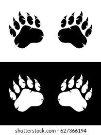 Vector Bear Paw Set