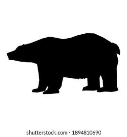 vector bear silhouette and vector panda bear silhouette