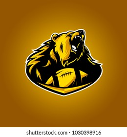 vector of bears footbal logo sport