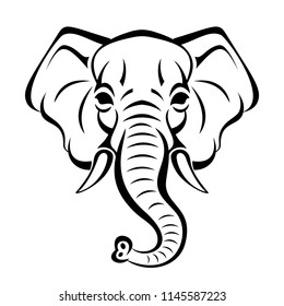 Elephant Face Images Stock Photos Vectors Shutterstock