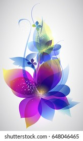 Vector beautiful flower background art for design