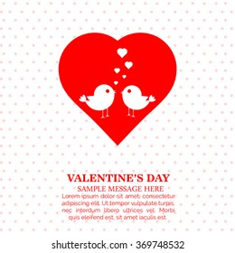 vector beautiful heart design background or illustration for valentines day.