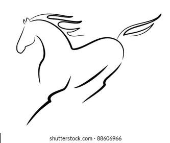 vector beautiful horse