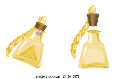 Vector beautiful magic potion, great design for any purposes. Isolated vector sign symbol. Vector design concept. Isolated objects
