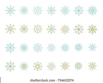 Vector beautiful snowflakes