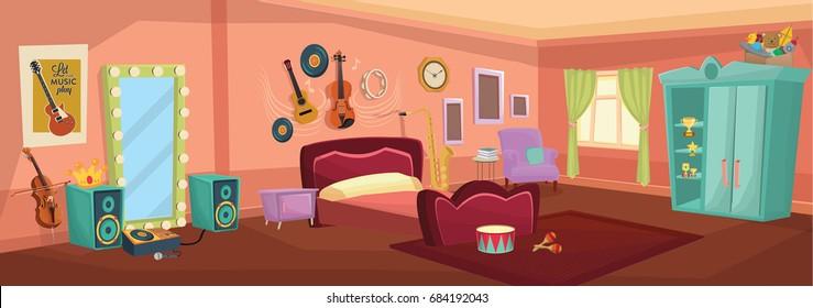 vector bedroom / illustration Bed