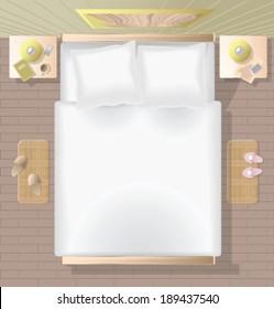 vector bedroom top view