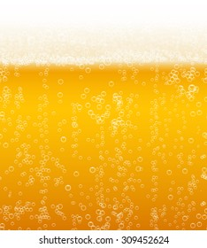 Vector beer foam background horizontally seamless pattern