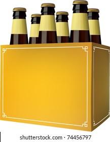 vector beer six pack