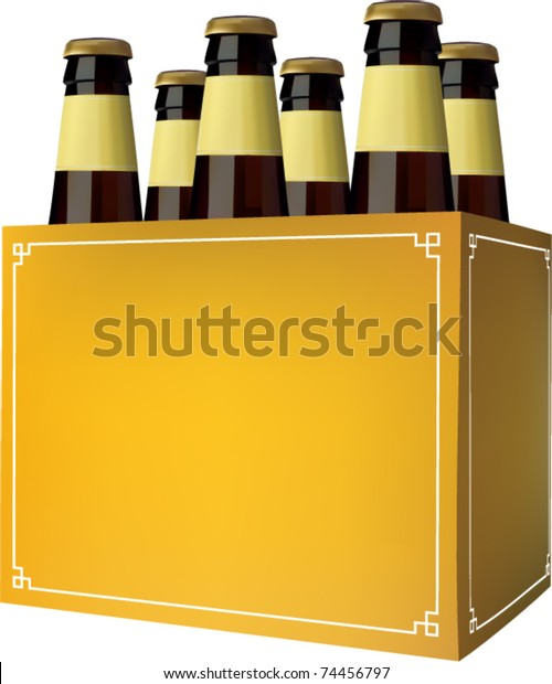 Vector Beer Six Pack Stock Vector Royalty Free 74456797