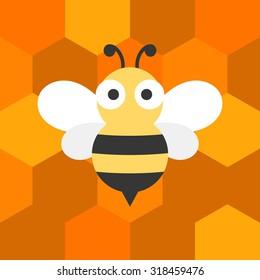 vector bees,flat design