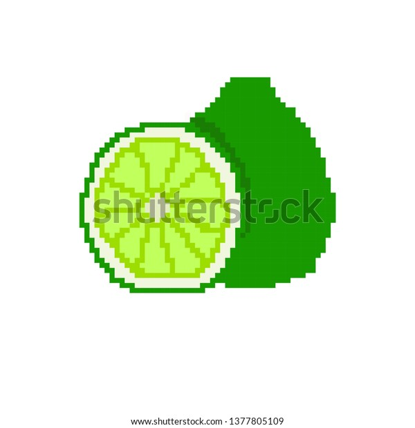 Vector Bergamot Concept Pixel Art The Arts Nature Stock Image